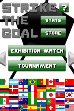 Strike The Goal main menu